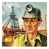 Coal Miner Giclee Print by  Escott