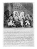 The Bench, 1758 Giclee Print by William Hogarth
