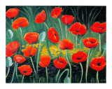 Poppies Festival Poster by P. Sonia