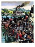 Gold Rush! Giclee Print by Ron Embleton