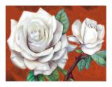 White Roses Posters by M. de Flavis