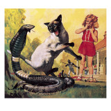 The Courageous Cat Giclee Print by  McConnell