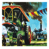 Steam Rally Giclee Print by English School