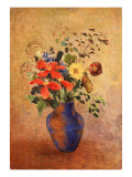 The Blue Vase Giclee Print by Odilon Redon