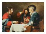 Supper at Emmaus Giclee Print by Bernardo Strozzi
