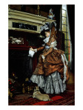 La Cheminee, 1869 Giclee Print by James Jacques Joseph Tissot