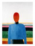 Bust of Woman Giclée-tryk af Kasimir Malevich