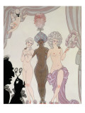The Three Graces Giclee Print by Georges Barbier
