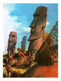 Easter Island Giclee Print by Andrew Howat