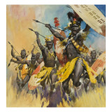 Zulu Warriors Giclee Print by  McConnell