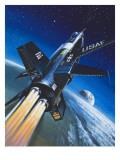 X-15 Rocket Plane Giclee Print by Wilf Hardy