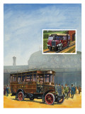Buses and Railways Giclee Print by  Green
