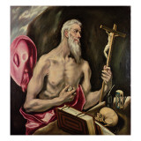 St. Jerome Giclee Print by  El Greco