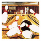 Ten Pin Bowling Giclee Print by  English School