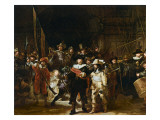 The Nightwatch Gicledruk van Rembrandt van Rijn