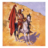 The Blanket Indian Giclee Print by Stanley L. Wood