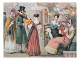 At the Milliners Giclee Print by John James Chalon
