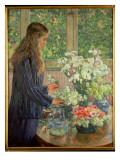 Garden Flowers Giclee Print by Théo van Rysselberghe