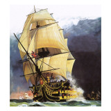 Hms Victory Giclee Print by Andrew Howat