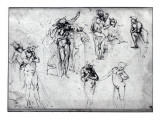Study of Nude Men Giclee Print by Leonardo da Vinci