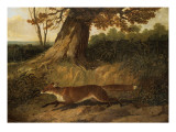 Fox on the Run Giclee Print by John Frederick Herring Snr
