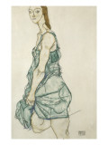 Standing Girl Giclee-vedos tekijn Schiele