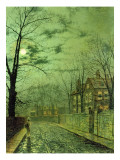 A Moonlit Road Giclee Print by  Grimshaw