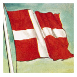 The Danish Flag Giclee Print by English School