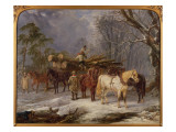 The Woodcutters Giclee Print by John Frederick Herring Snr
