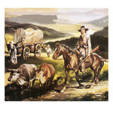 The Oregon Trail Giclee Print by Ron Embleton