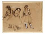 Three Dancers Giclee Print by Edgar Degas