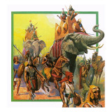 Hannibal's Army Giclee Print by Severino Baraldi