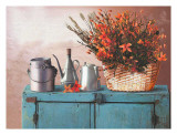 Flowers on a Sideboard II Poster by M. de Flavis