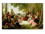 A Picnic, 1957 Giclee Print by Henry Nelson O'Neil