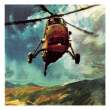 Helicopter Giclee Print by  McConnell