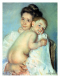 The Young Mother Giclee Print by Mary Stevenson Cassatt