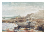Boys on the Beach Giclee Print by Winslow Homer