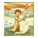 A Loving Hug Giclee Print by Edward Burne-Jones