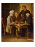 Voltaire at Chess Premium Giclee Print by Jean Huber