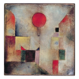 Rød ballon, 1922 Giclée-tryk af Paul Klee