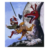 The Gentle Dragon Giclee Print by Gerry Embleton