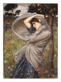 Boreas, 1903 Lmina gicle por John William Waterhouse