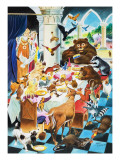 Animal Tea Party Giclee Print by Mario Capaldi