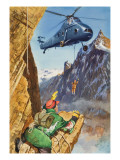 Helicopter Rescue Giclee Print by Barrie Linklater