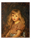 Portrait of a Girl Premium Giclee Print by John William Waterhouse