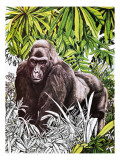 Gorilla Giclee Print by Susan Cartwright
