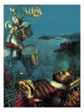 Drake's Drum Giclee Print by John Millar Watt