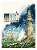 Lighthouses Giclee Print by Leo Davy