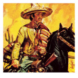 Mexican Cattle Man Giclee Print by  English School