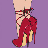 Red Heels Art by E. Serine